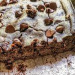 avocado black bean brownies in a pan