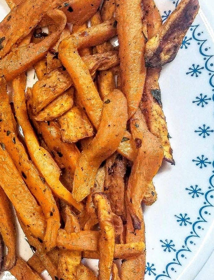 Baked Sweet Potato Fries Crispy