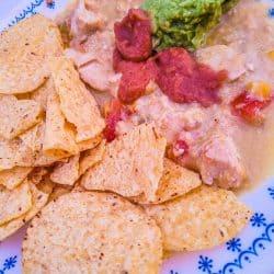 slow cooker chicken enchilada dip