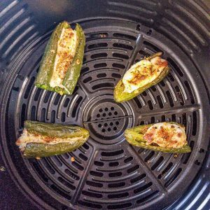 stuffed jalapenos in the air fryer