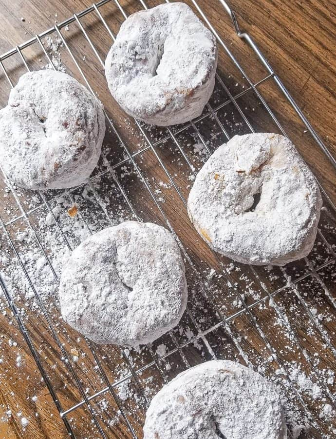 Air Fried Donuts with Powdered Sugar