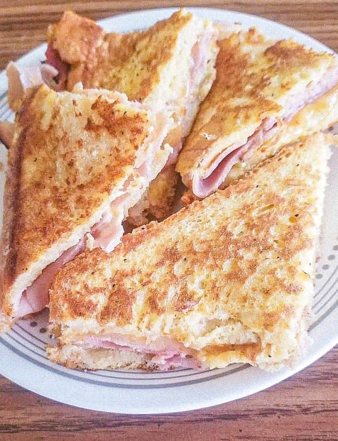 Monte Cristo Sandwich with Cheddar