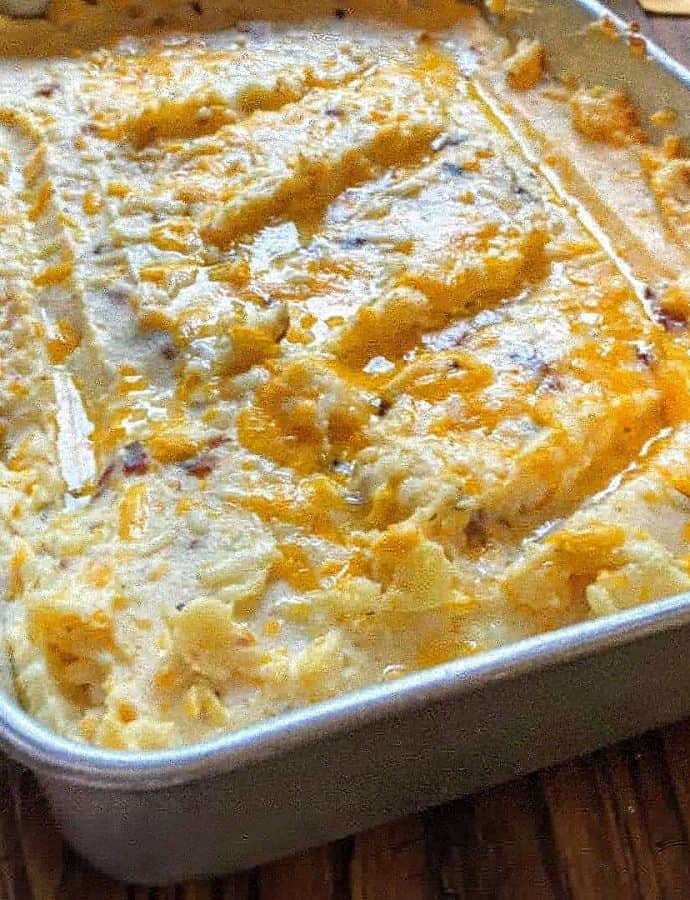 Loaded Mashed Potatoes in the Oven