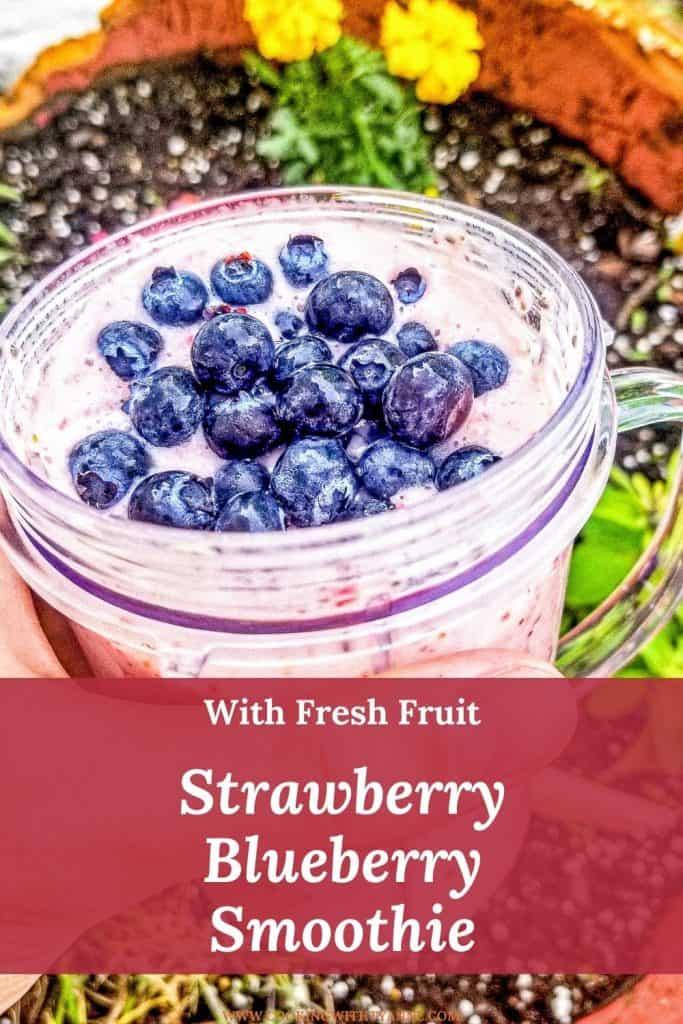 Strawberry Blueberry Smoothie pin