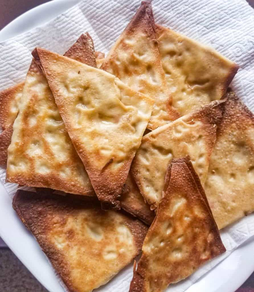 baked crab rangoons on a plate