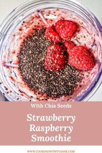 strawberry raspberry smoothie pin