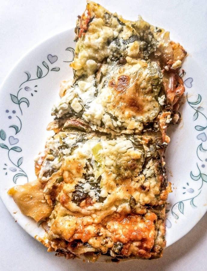 Spinach and Artichoke Lasagna