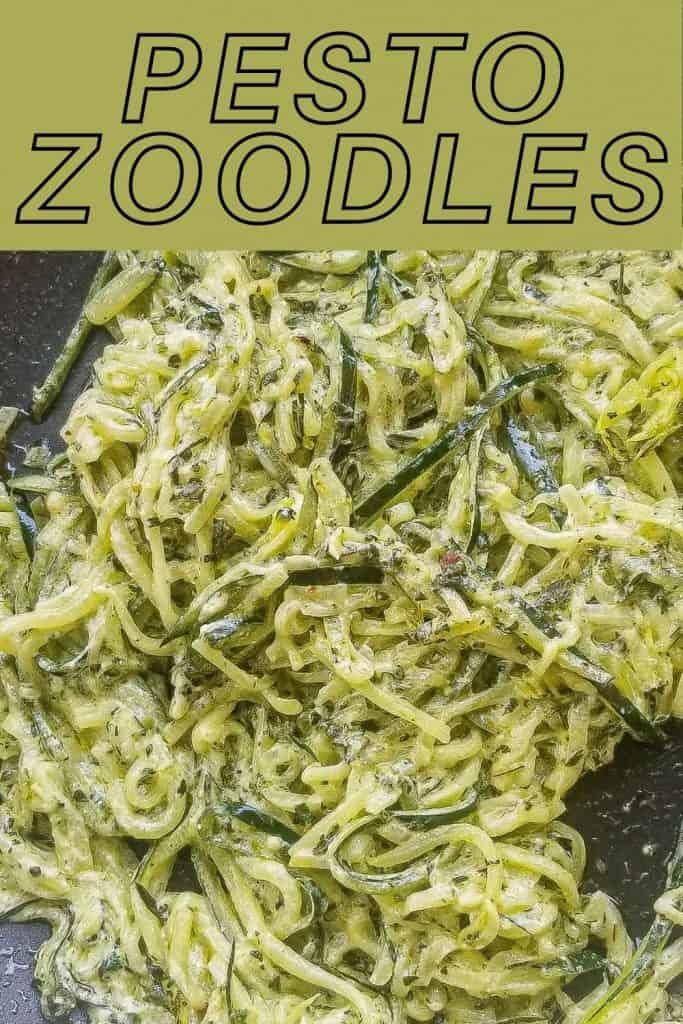 Pesto zoodles pin