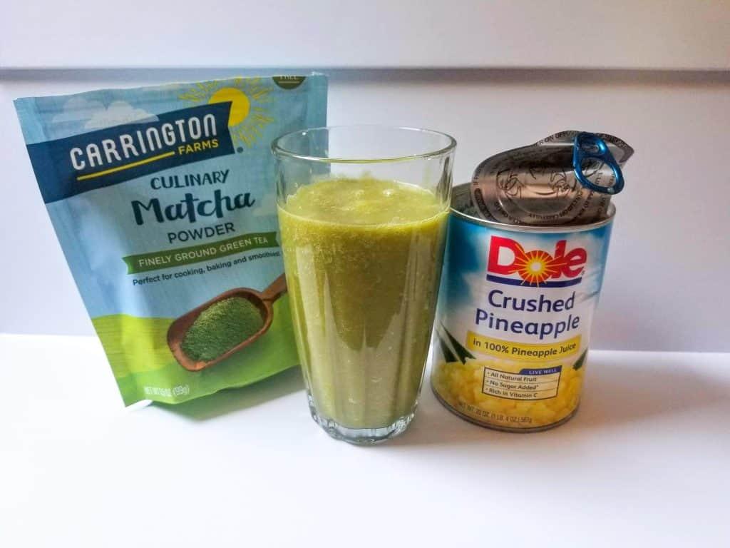 pineapple matcha drink