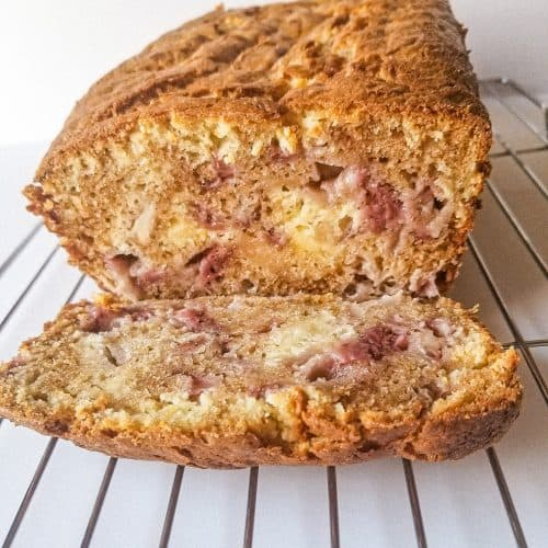 strawberry cream cheese bread loaf