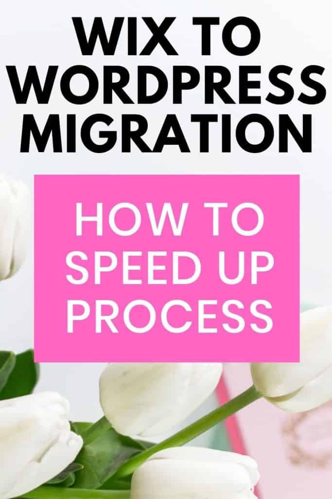 wix to wordpress migration pin